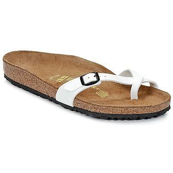 e4307b70a5e040 White Birkenstocks with thin straps--finally a feminine model from the  brand!  shoes  summer  sandals  birkenstocks  sale  white