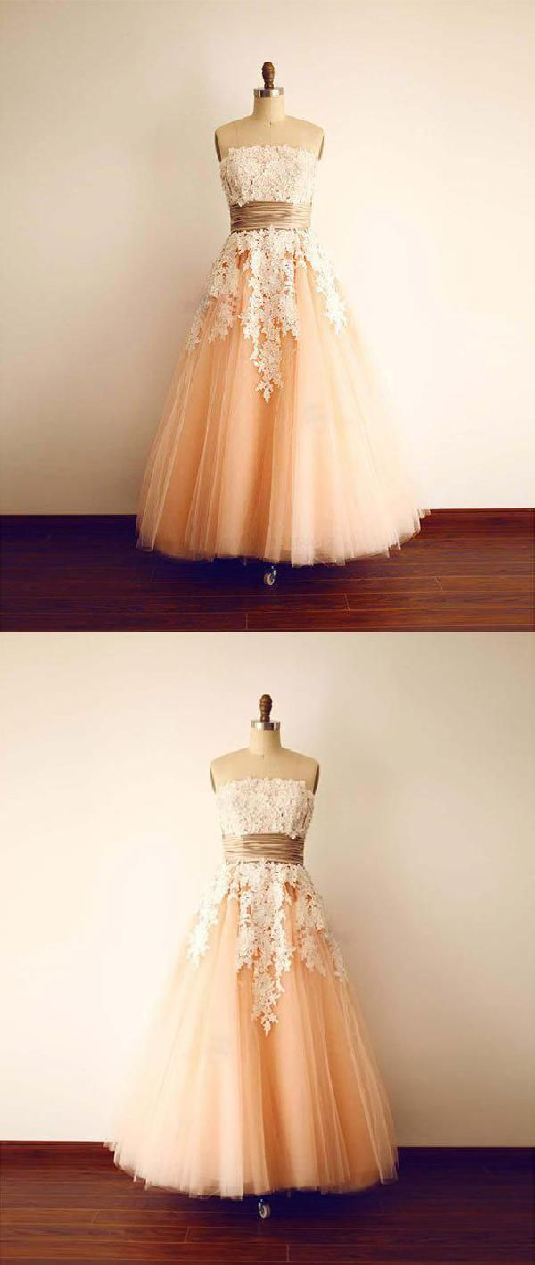 Prom dresses vintage prom dresses with appliques lace prom dresses