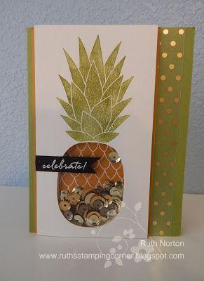 Ruth's Stamping Corner: Shaker Pineapple