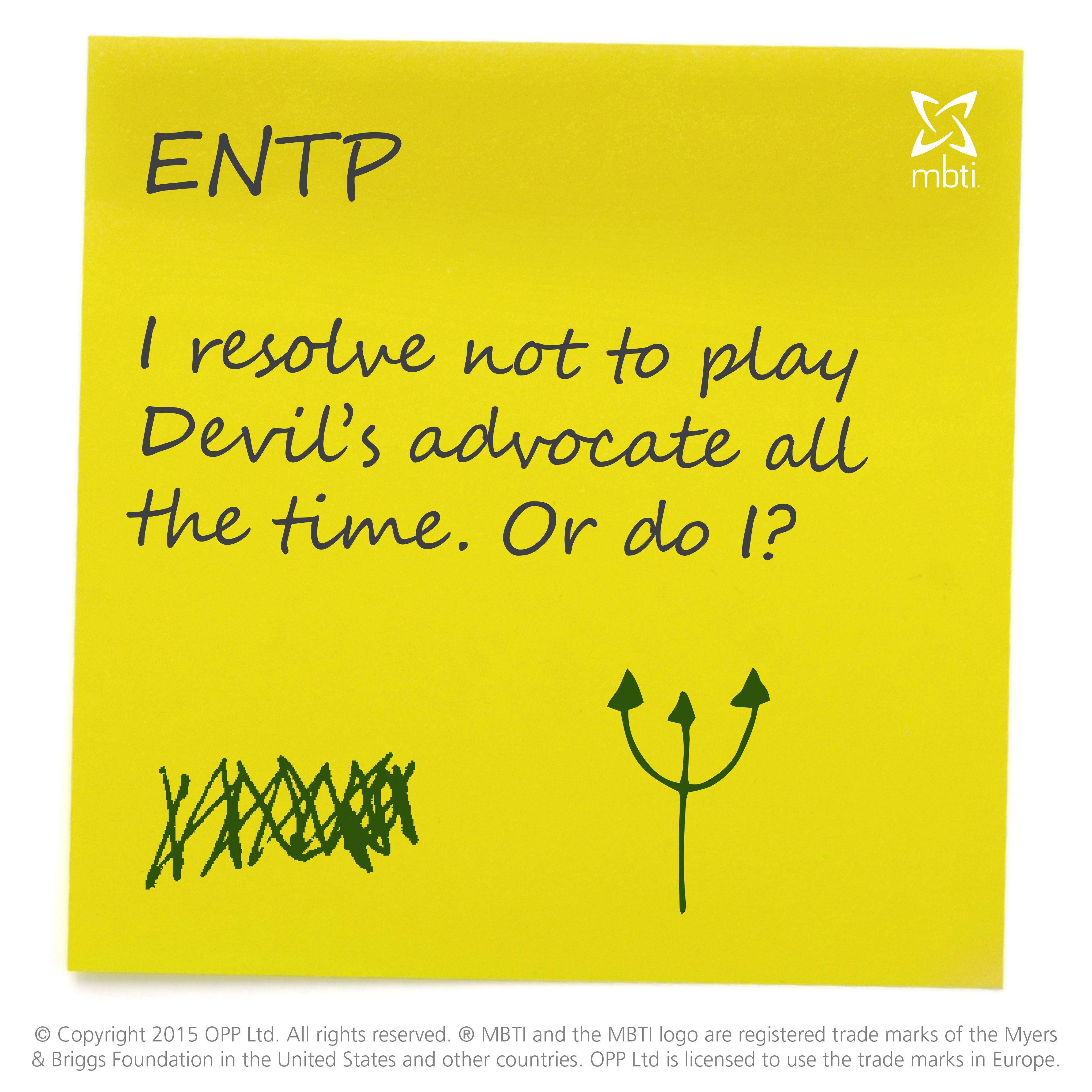 ENTP New Year's Resolutions