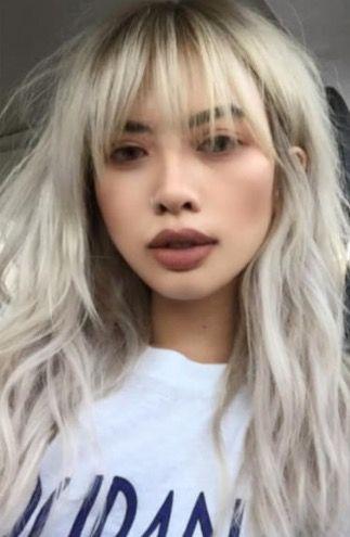 whispy fringe  blonde asian hair asian hair blonde hair