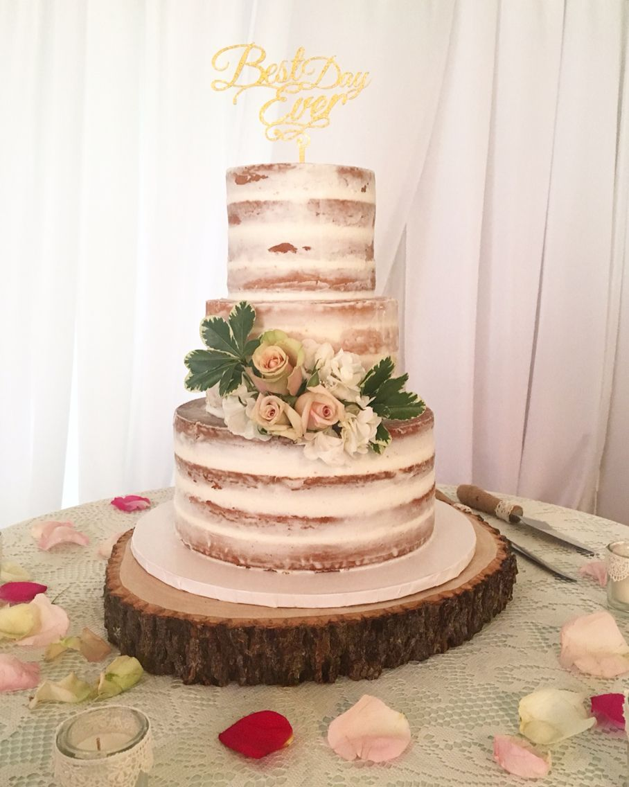 Barely Naked Wedding Cake By Cloud 9 Bakery In Miami