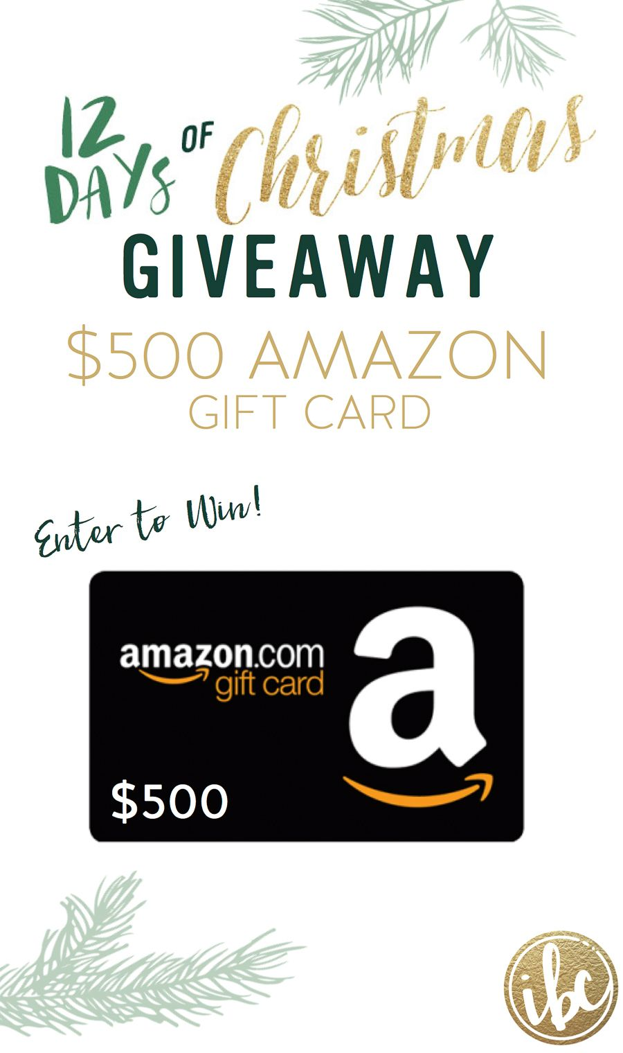Enter To Win 500 Amazon Gift Card Via Inspired By Charm 12 Days