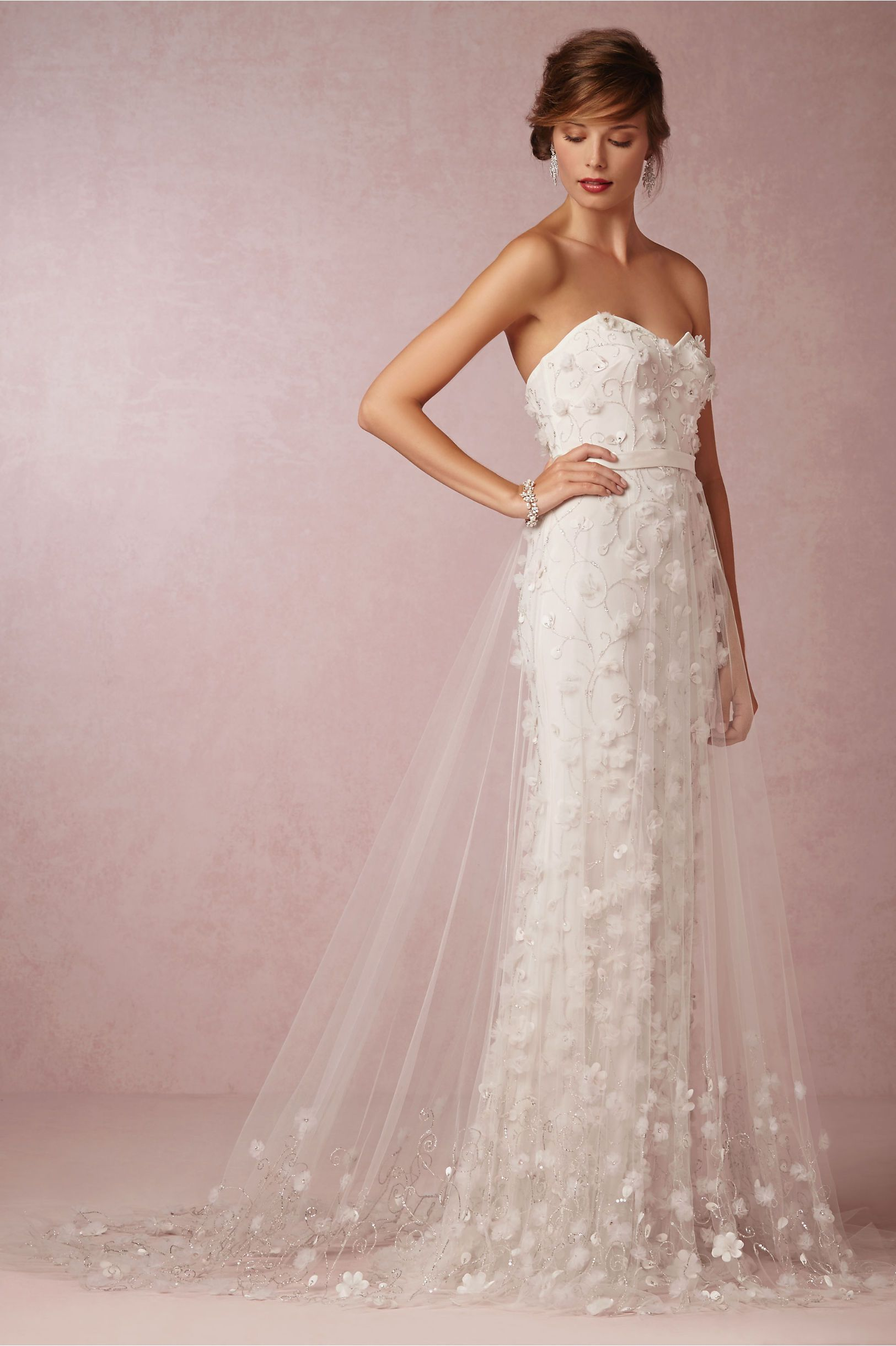 Ava tulle skirt by theia for bhldn wedding flowers for How to make a long tulle skirt for wedding dress