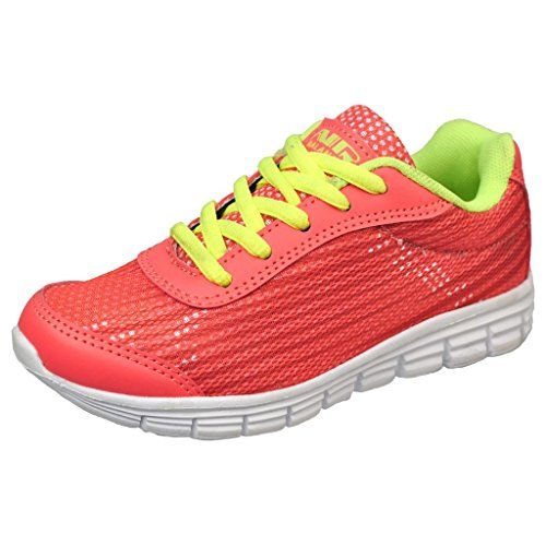 4dece9c019e1 back to basics Air Balance Girls Coral Neon Lightweight Cross Trainer Shoes