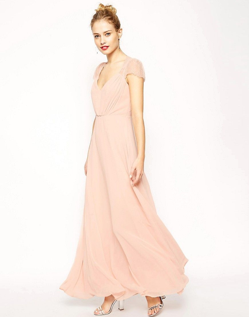 Asos kate lace maxi dress pink products pinterest lace maxi