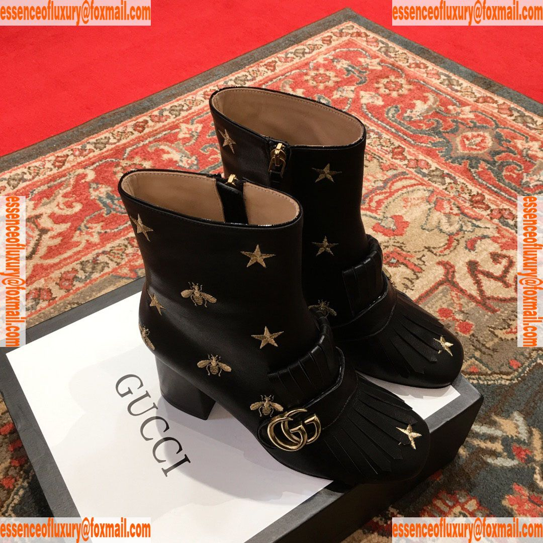 e2ed94e0f698d Replica Womens Shoes Gucci Leather Double G Fringe Ankle Boot 75MM Gucci  Knockoff Shoes 35 To 40 A151PP550 AA73590