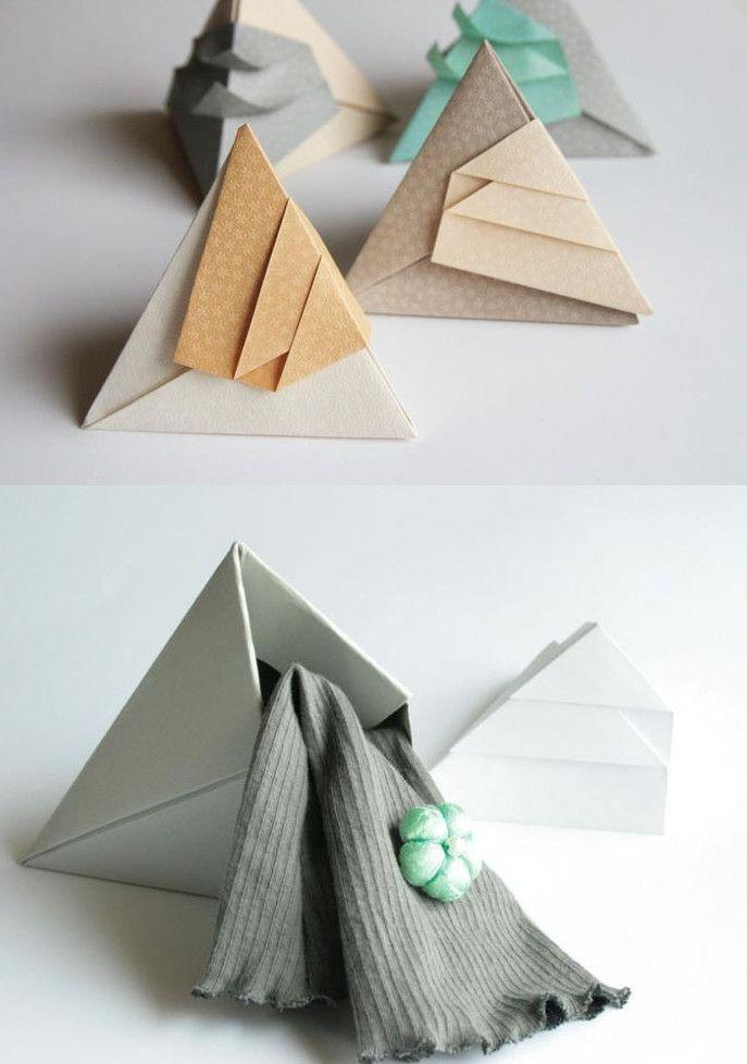 Diese raffinierte Faltschachtel ist ideal für kleine Geschenke ...