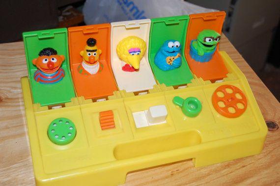 Playskool Poppin' Pals.Vintage toys.Sesame Street.Big Bird.Burt.Ernie.Developmental Toys.
