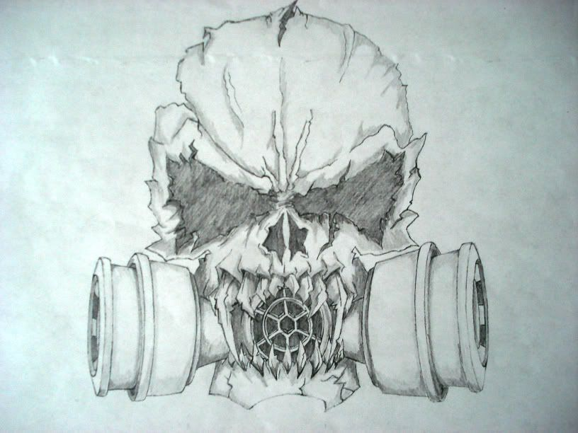 Scary Skull Drawings | Evil Skulls Drawings Bucket Pic #14