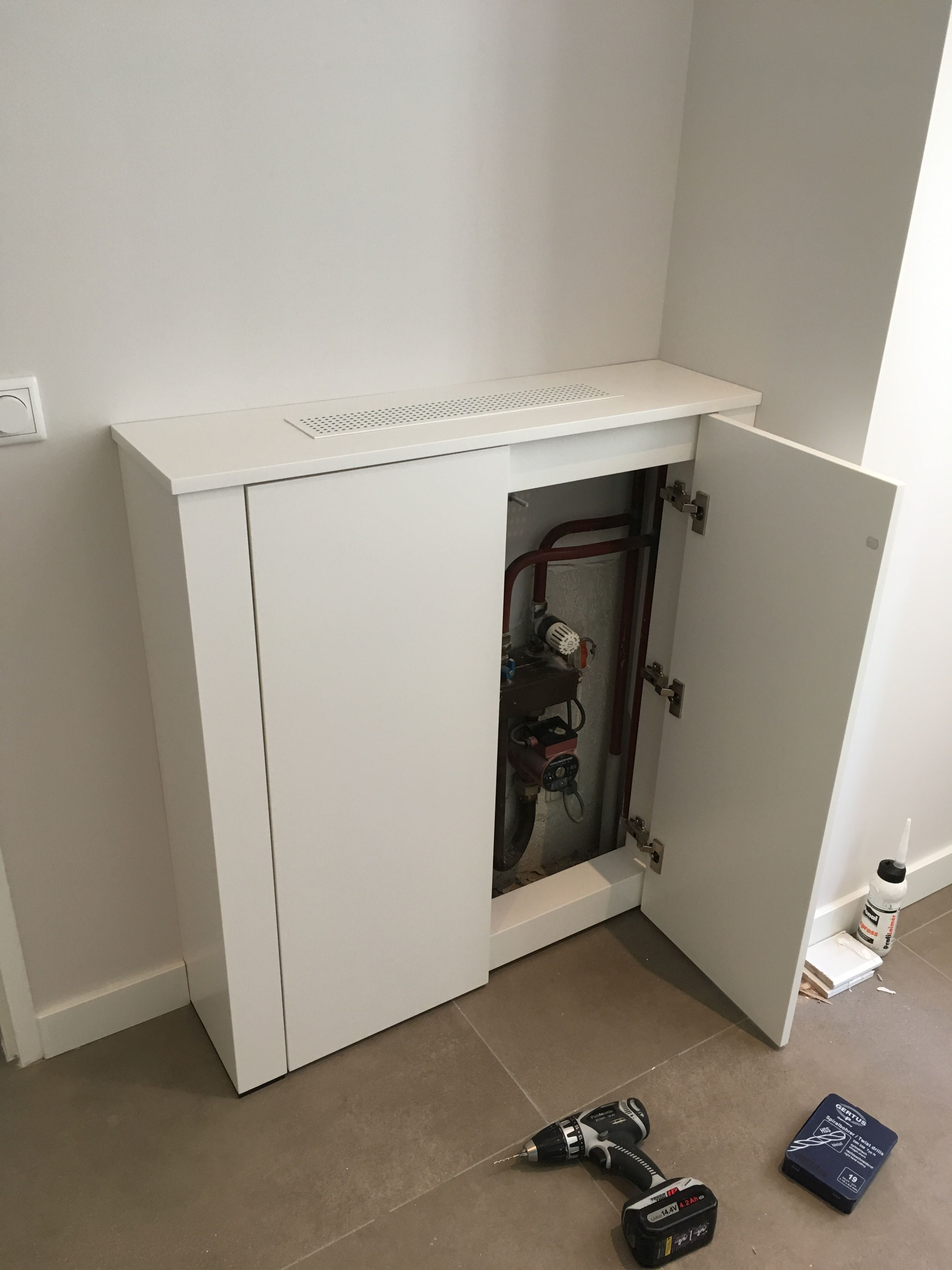 Kast Ombouw Voor Vloerverwarming Installatie Vloerverwarming Huis Organisatie Interieur