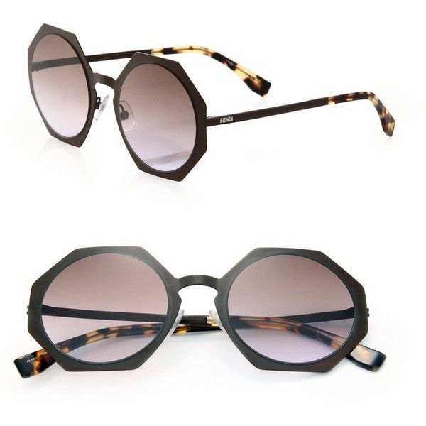 90501ac8dec7b Fendi 51Mm Metal Octagonal Sunglasses ( 304) ❤ liked on Polyvore featuring  accessories