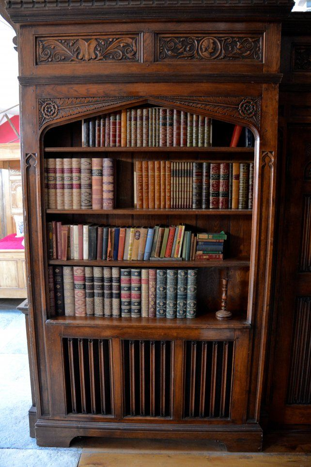 Gothic Style Bookcase With Built In Radiator Cover