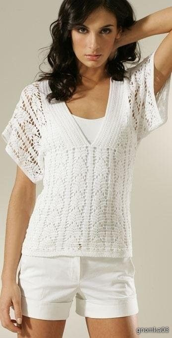 top      ♪ ♪ ... #inspiration_crochet #diy GB .image1.liveinternet.ru - love the crochet top