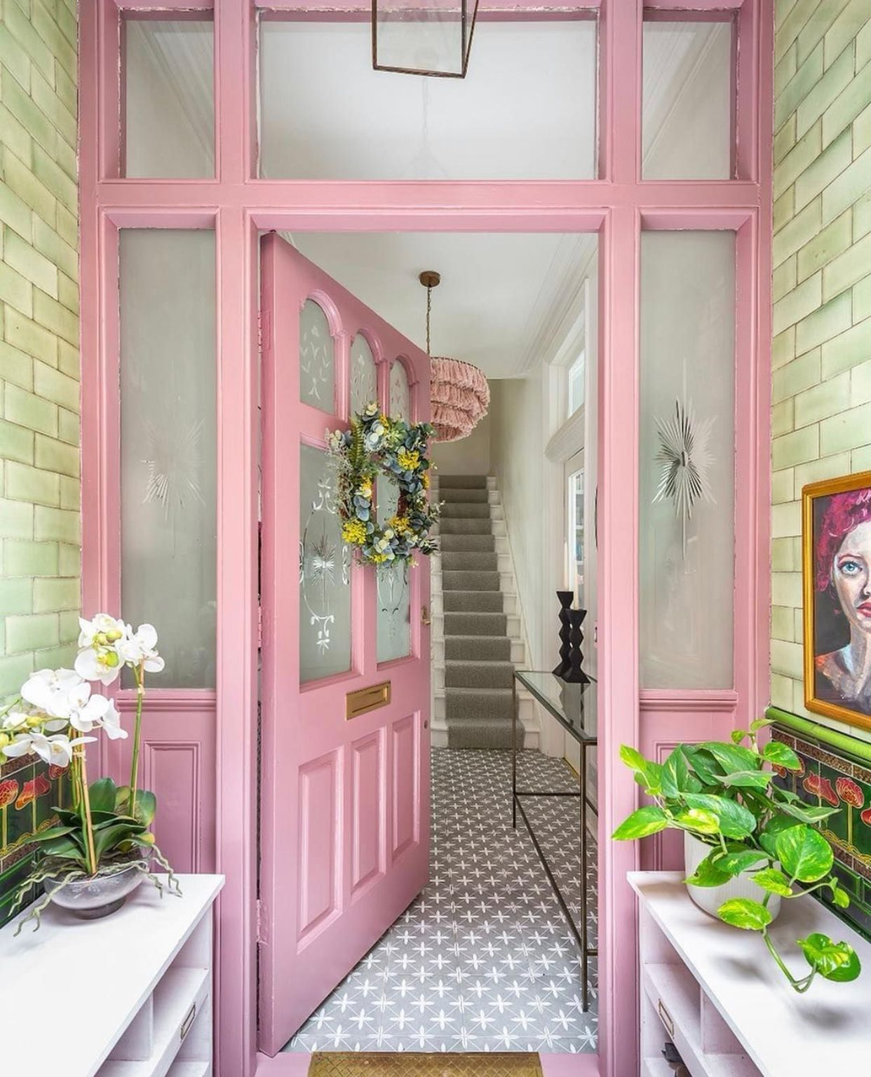 15 Pink Front Door Designs To Insire Shelterness Pink Front Door Pink Door Pink Houses