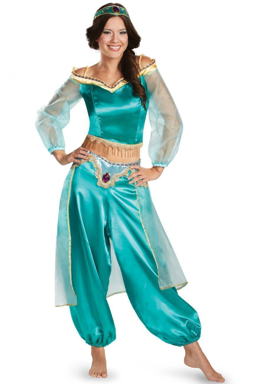 18.29 AUD - Ladies Disney Princess Jasmine Costume Adult Aladdin Halloween  Fancy Dress Suit  ebay  Fashion 97ead578264b8