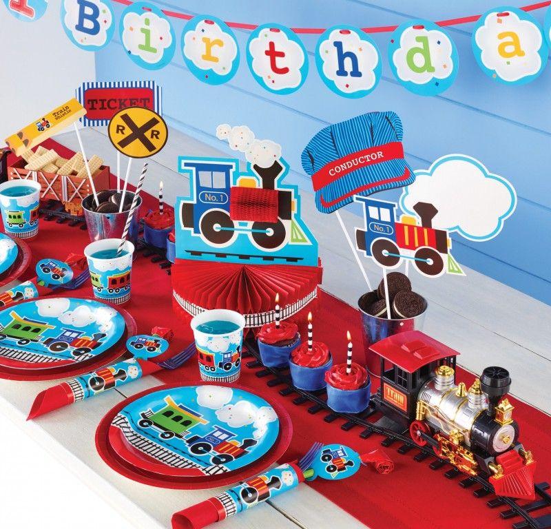 48 Teile Erster Geburtstag Eisenbahn Party Deko Set 16 Personen