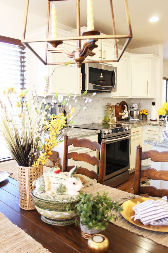 easy easter kitchen decor a stroll thru life kitchen on favorite diy fall decorating ideas add life to your home id=46352