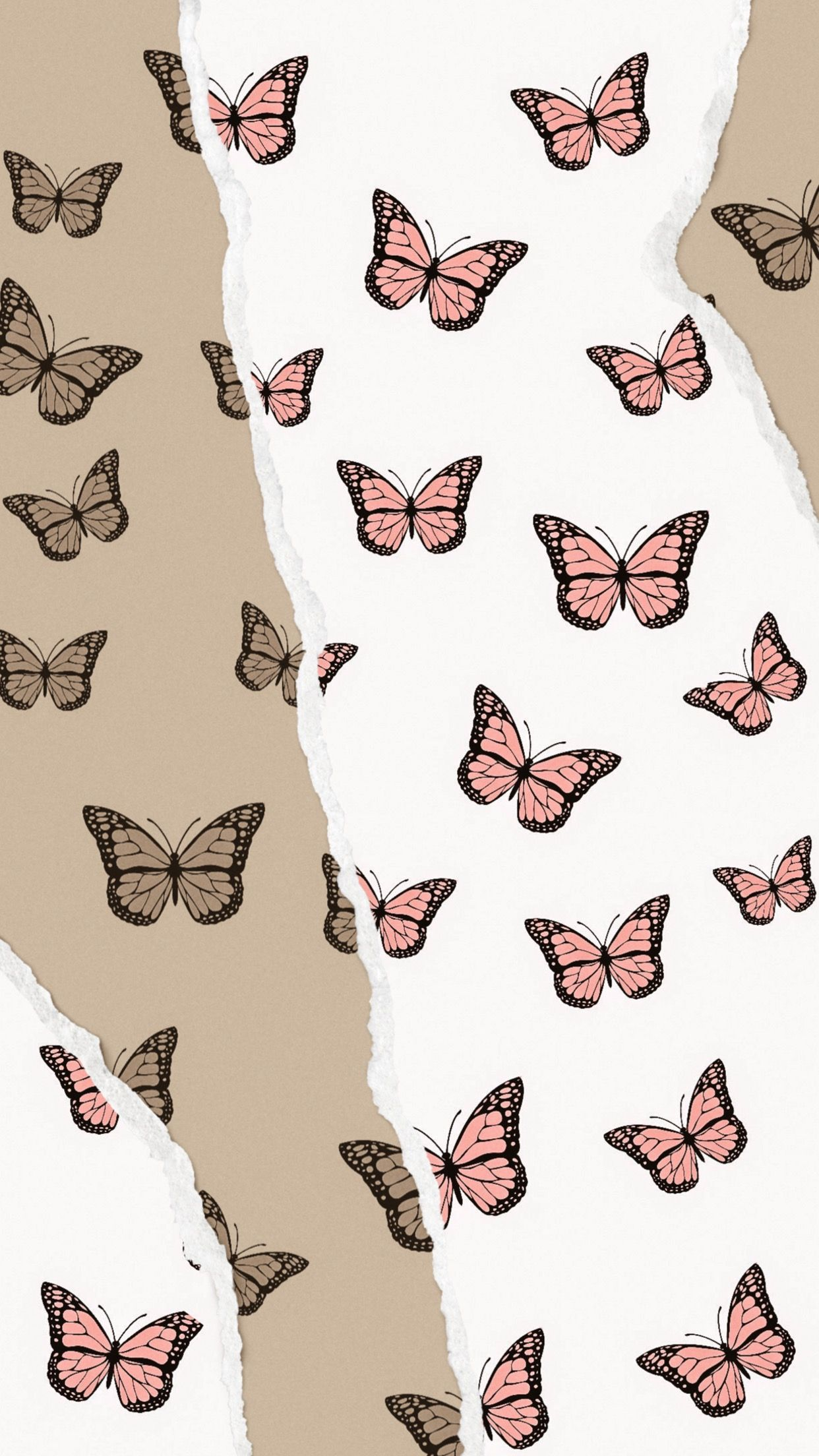 Pink Butterflies In 2020 Butterfly Wallpaper Iphone Cute Patterns Wallpaper Aesthetic Iphone Wallpaper