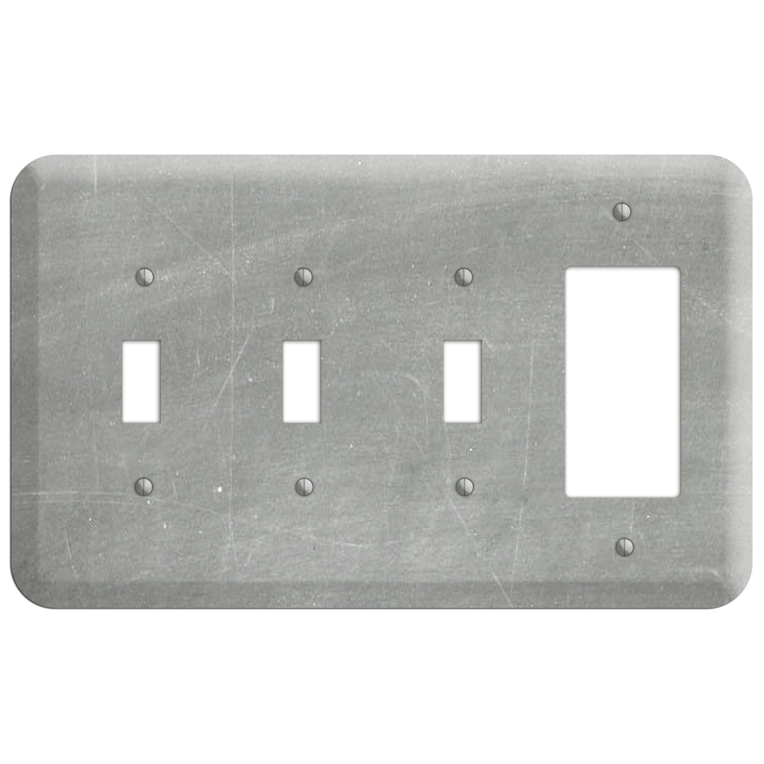 Chalk Light Green 3 Toggle / Rocker Wallplate