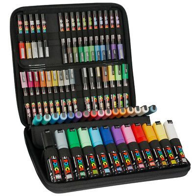 Details about Posca Uni Paint Marker Kits Cases, Sets, Packs, all options.Pastel & Mega Packs