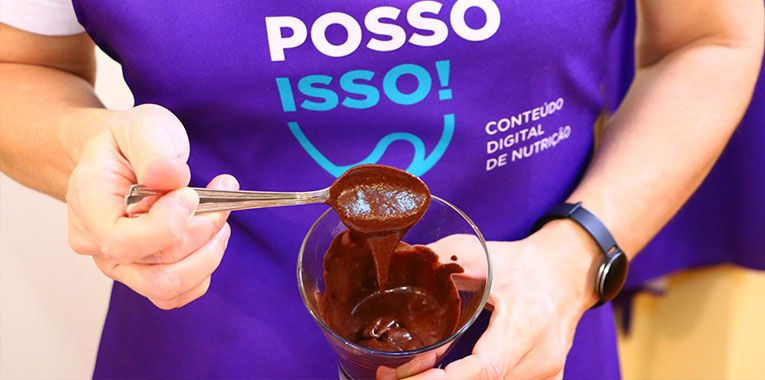 Mousse de Chocolate com Aqua Faba