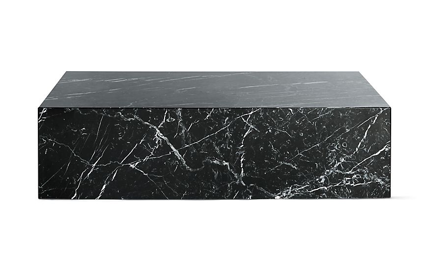 Plinth Coffee Table Design Within Reach In 2020 Coffee Table Coffee Table Design Black Marble Coffee Table