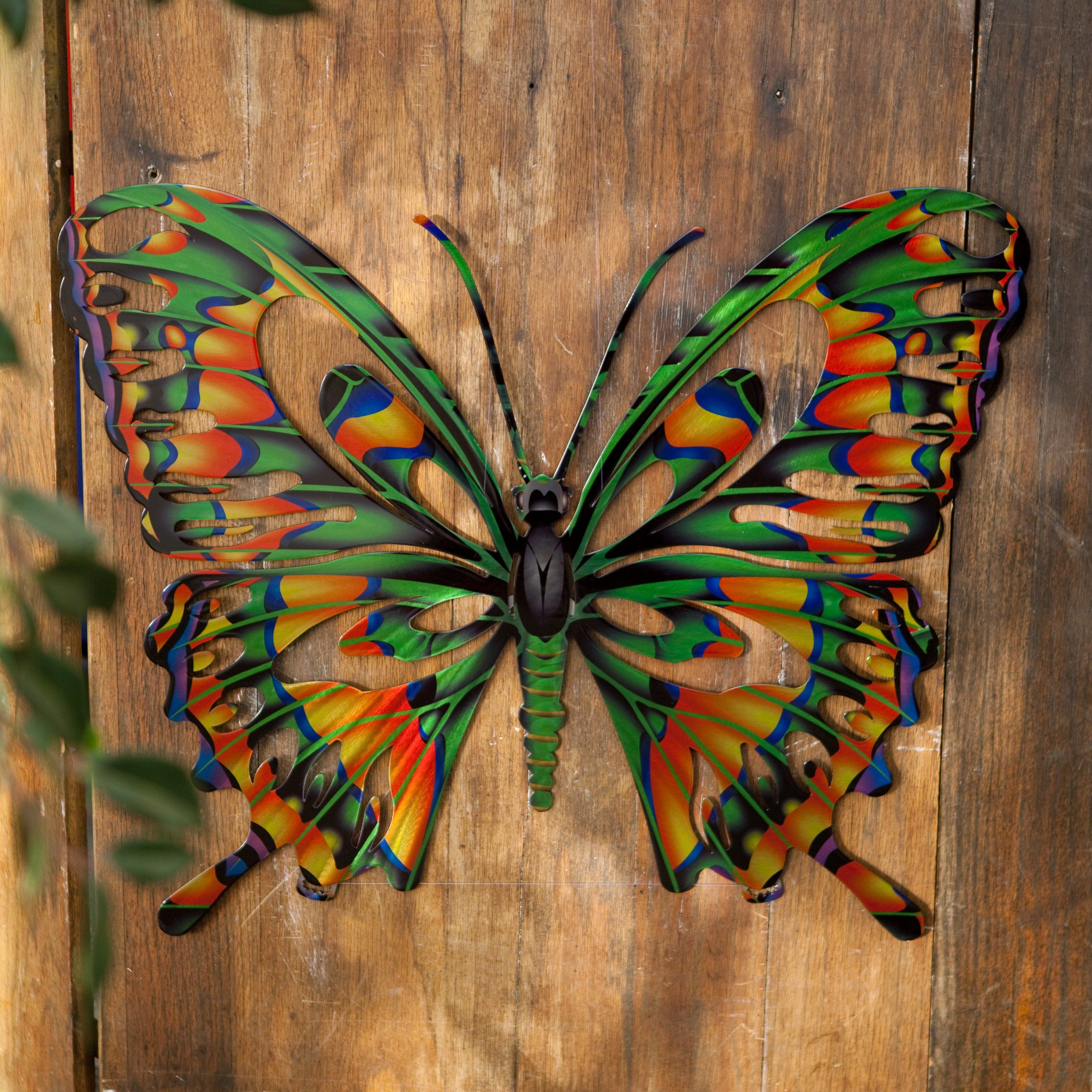 Have to have it 3d butterfly metal outdoor wall art 39 for Butterfly lawn decorations