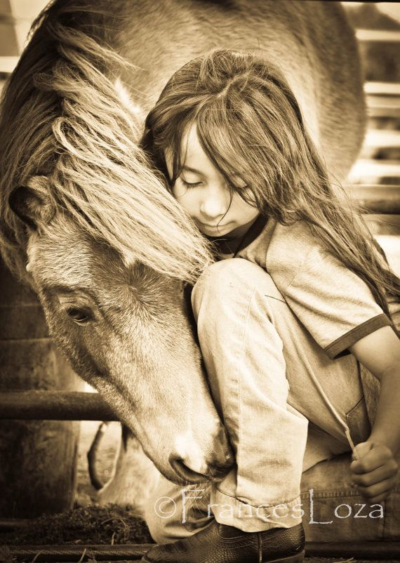 horse photo  My  pony   lil girl and her horse by francesloza, $25.00