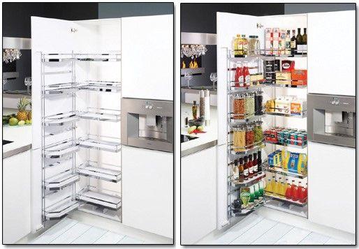 Orden en despensa buscar con google cocinas for Mobiliario cocinas pequenas