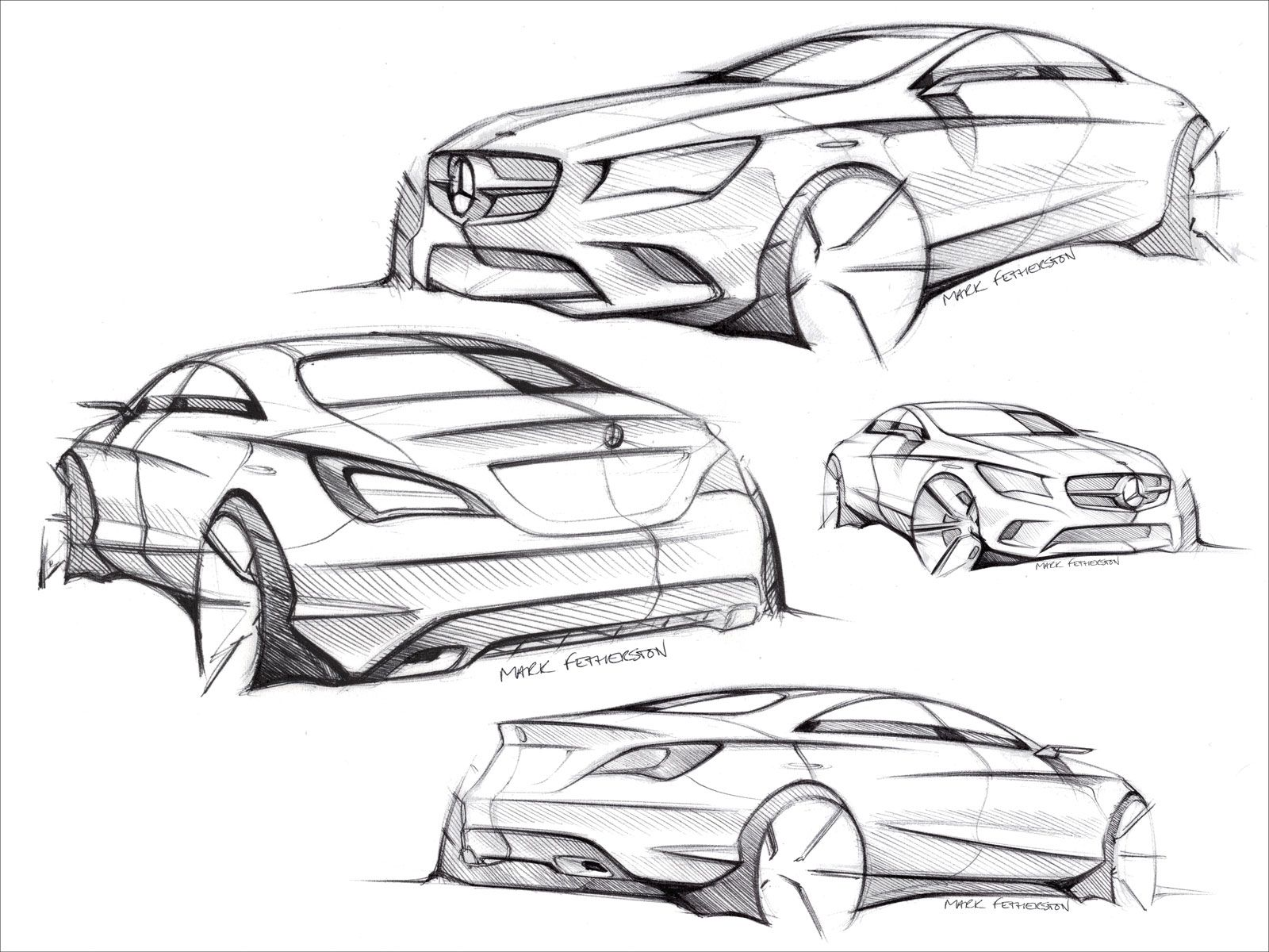 Mercedes-Benz CLA-Class Design Sketches | sketches | Pinterest ...