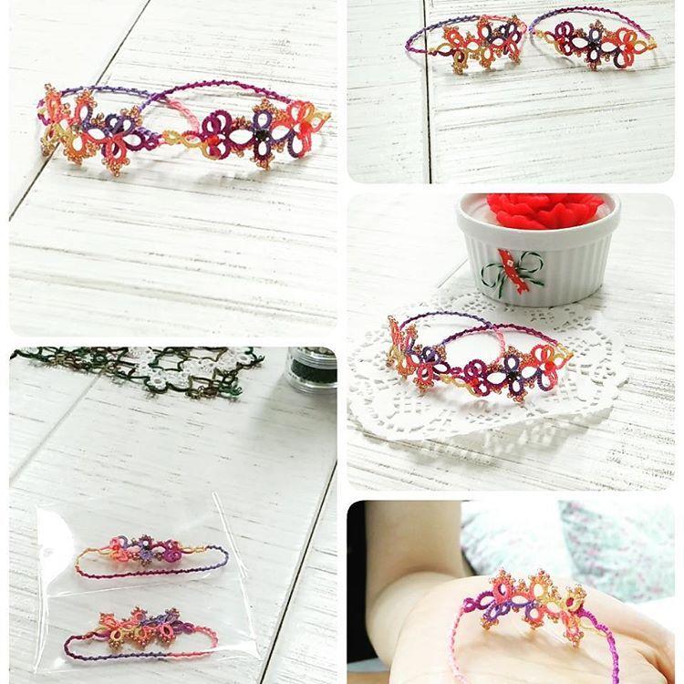 태팅레이스#태팅 #tatting #tattinglace #팔찌 #bracelet #beads #유아용 #우레탄줄 # elastic
