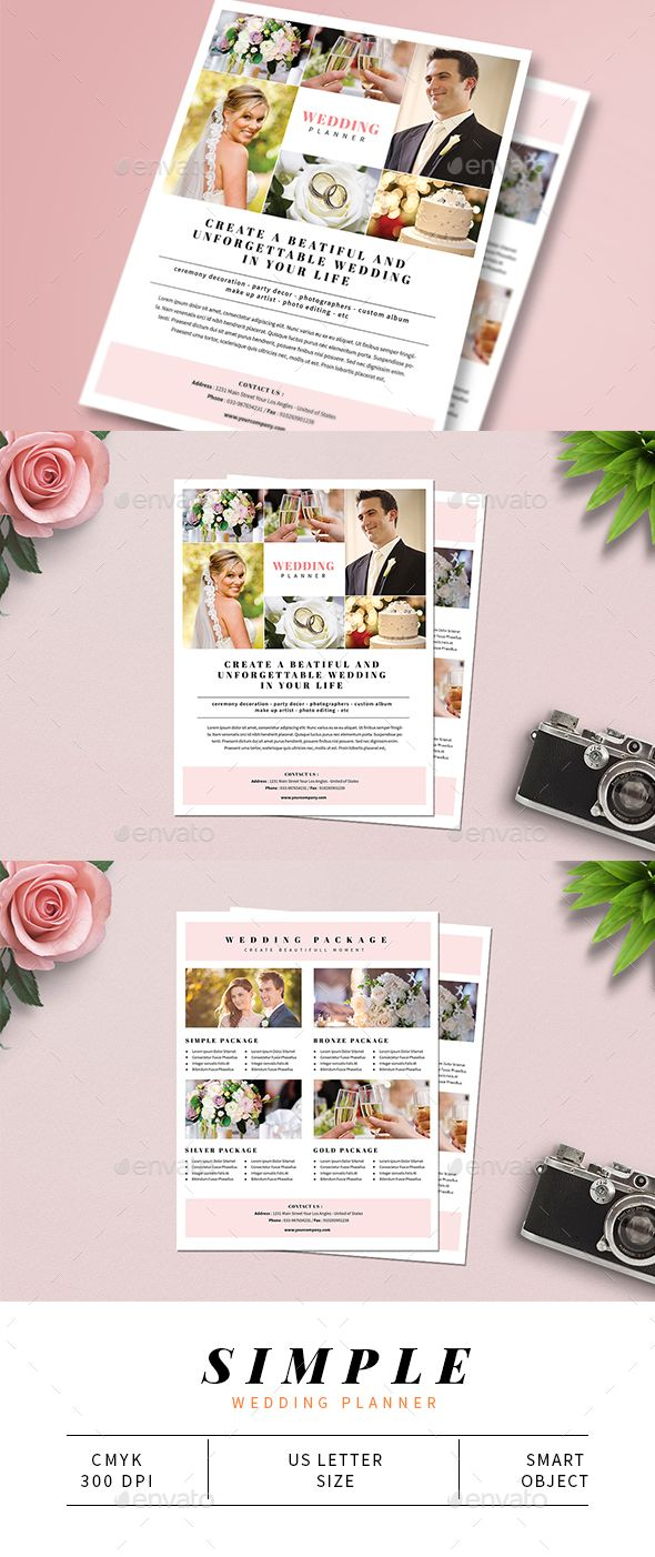 simple wedding planner flyer design template corporate flyers template psd