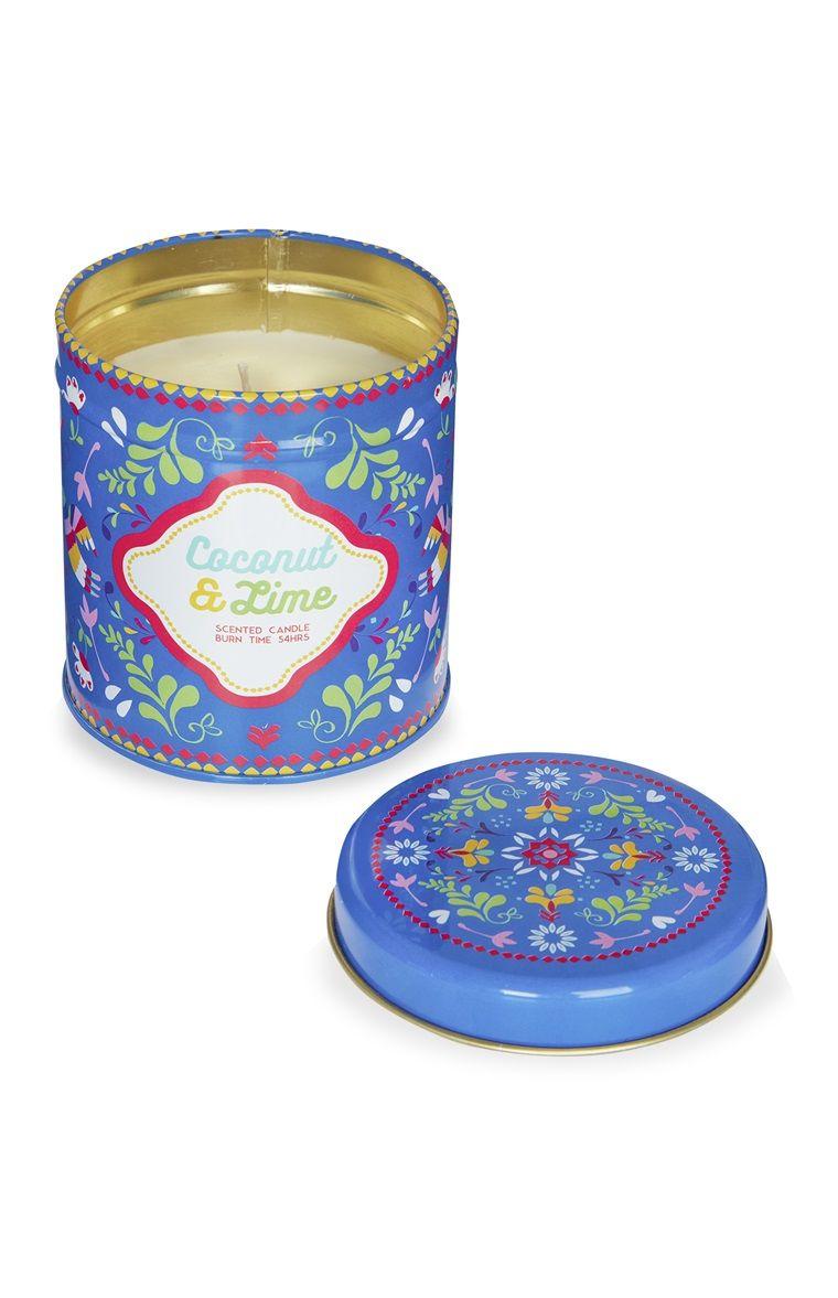 Primark lata para vela estampada azul relax pinterest - Velas led primark ...