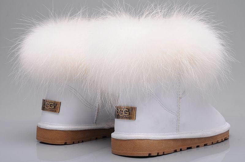 UGG Fox Fur Mini Boots 5854 White | Ugg