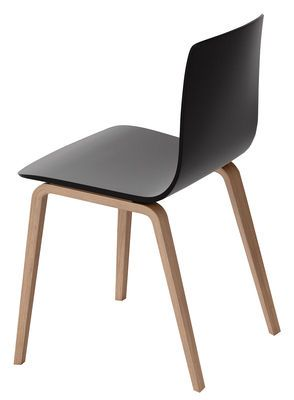 Arper Aava Chair Black Natural Wood Made In Design Uk En 2020 Chaise Noire Chaises Bois Chaise