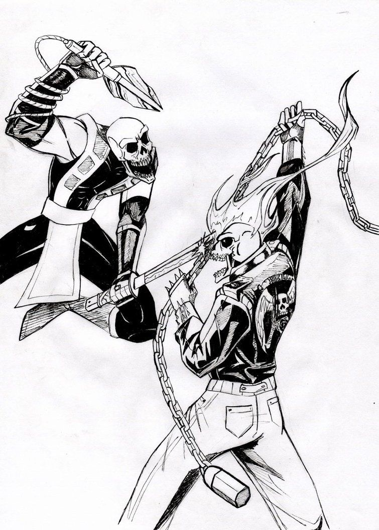 Scorpion vs Ghost Rider | Coloring book | Pinterest