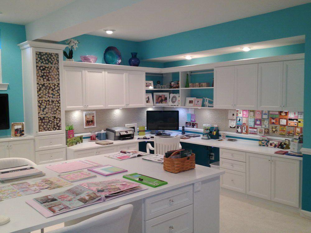 Home Craft Room: Amazing Office Craft Room Ideas ... Home Office Craft Room