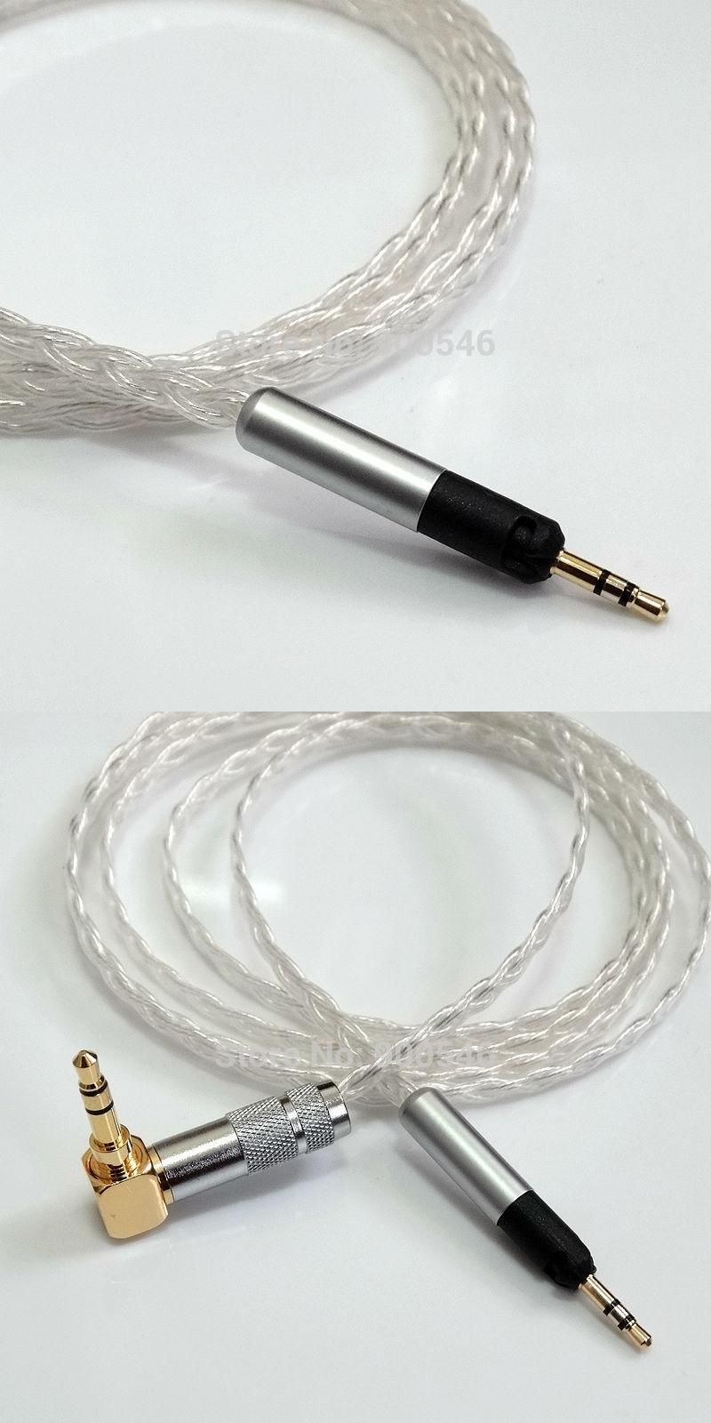 1.5m 5ft L -type plug 6core 4N OCC Silver plated Headphone Cable ...
