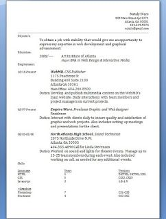 Web Designer Resume With Career Objective Format In Word Free