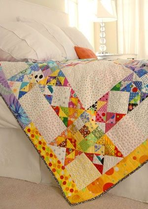 Gather up all the polka dot prints you can find, then combine them to make a bright and colorful throw.