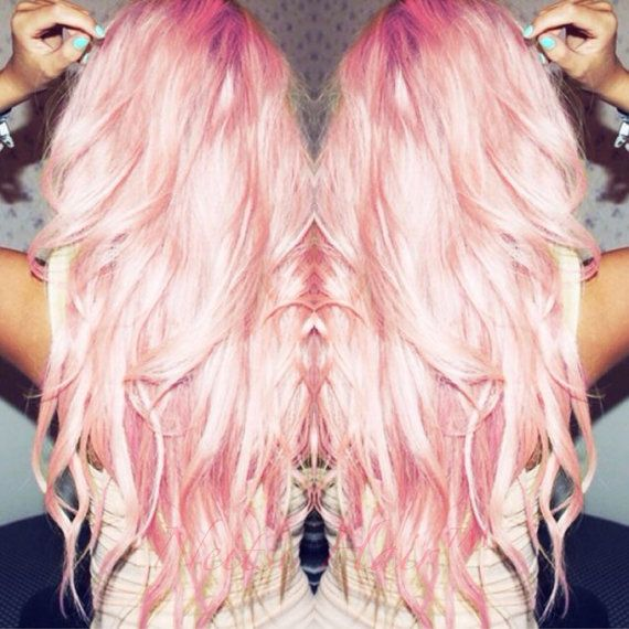 Sale Pastel Pink Clip In Hair Extensions 22 Clip In By Abouthair