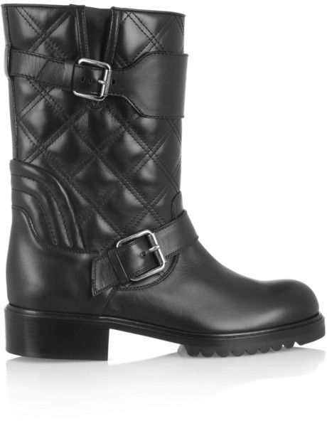 Marc Jacobs Quilted leather biker boots on shopstyle.ca
