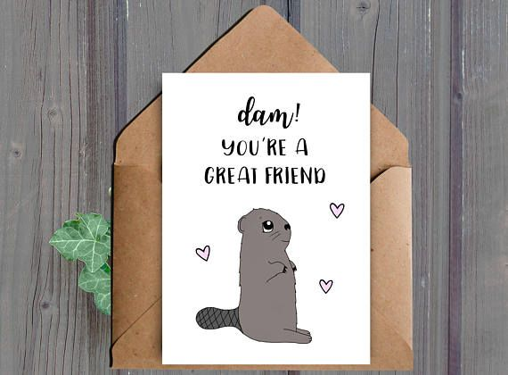 DIGITAL DOWNLOAD, Printable Friend Card, Best Friend, Birthday - printable best friend birthday cards