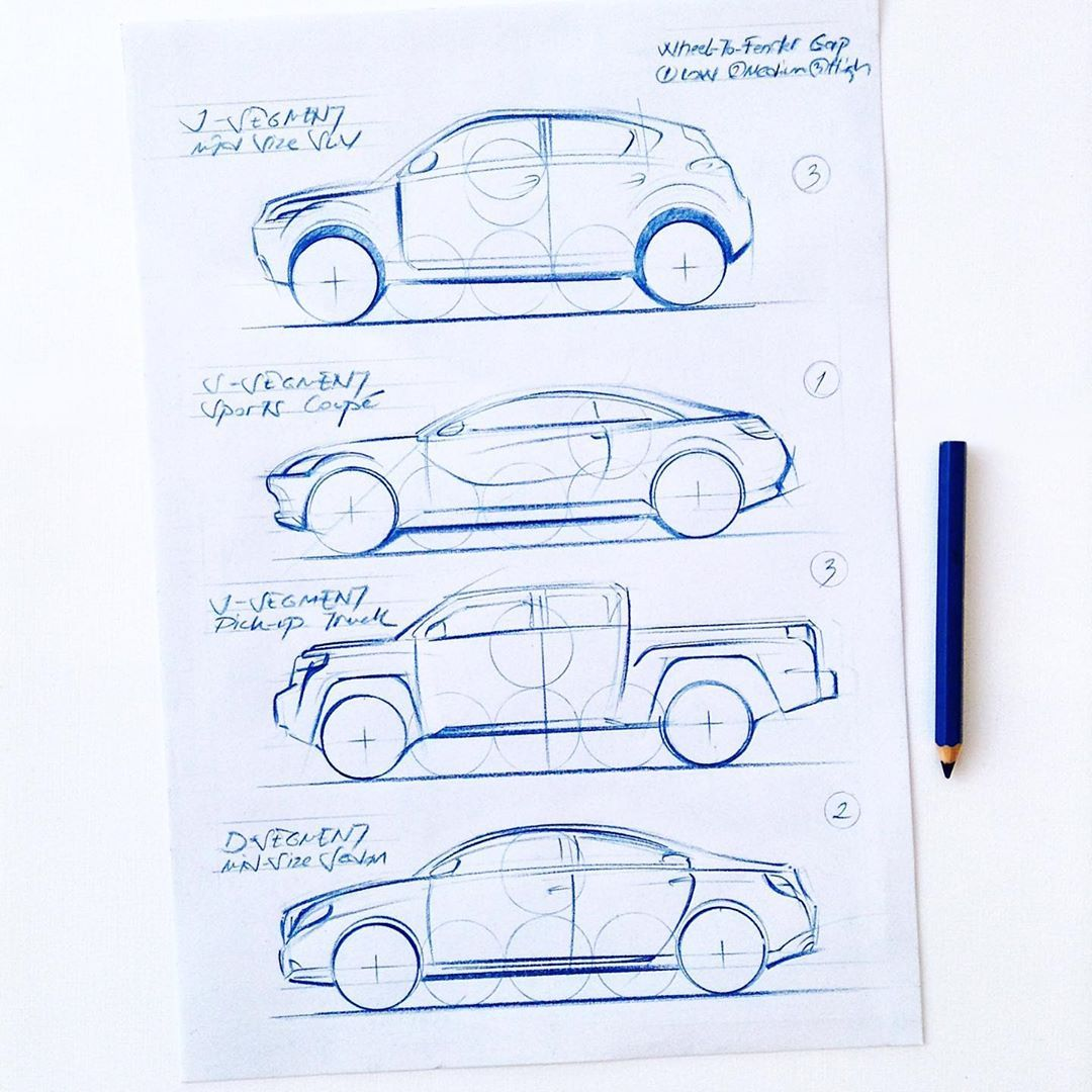 I Draw Cars Chapter 2 Proportion 2fast And 2furious Industrial Design Sketch Sketch Book