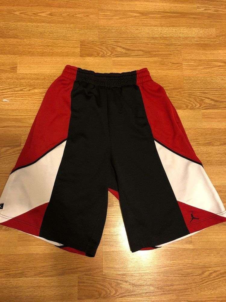 27fde0e14427ff jordan basketball shorts small Red black  fashion  clothing  shoes   accessories