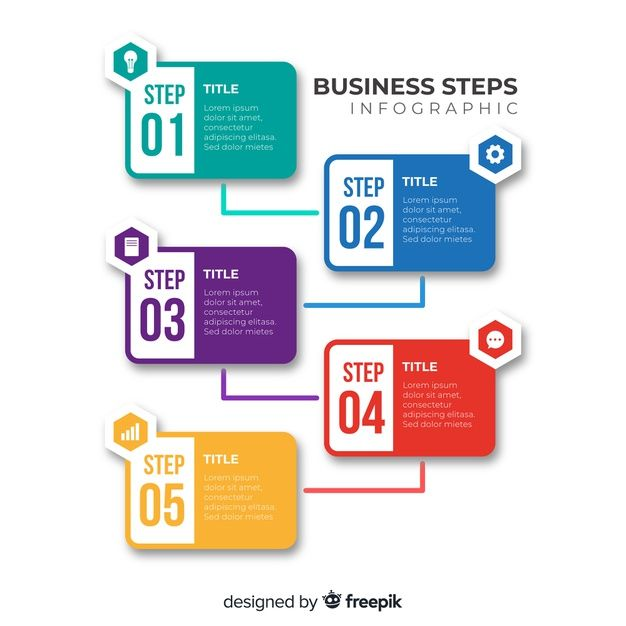 Download Flat Infographic Steps For Free