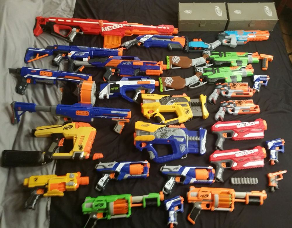 Huge Lot of 25 Nerf Guns Elite Mega Centurion, Mega Magnus, Retaliator
