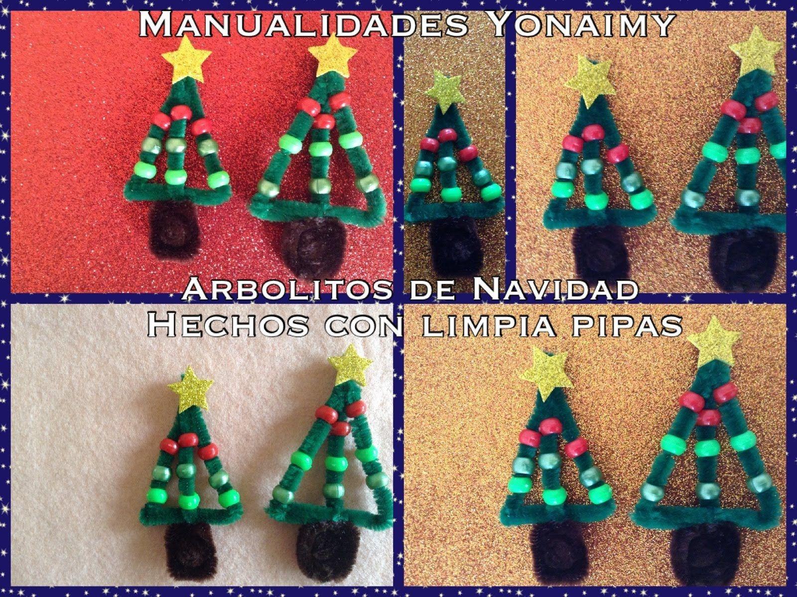Arbolito De Navidad Hecho Con Limpia Pipas Pipe Cleaner  ~ Crismas De Navidad Hechos Por  Ninos
