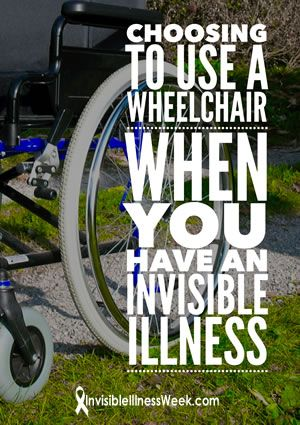 THAT FIRST TIME YOU USE A WHEELCHAIR when you have a #chronicillness or #invisibleillness can be an emotional one. But when you accept it, you may just find that you are back--participating in life instead of sitting on the sidelines